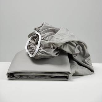 Smoke Cotton Fitted Sheets