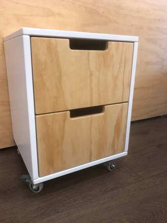 Trendy 2  Drawers Bedside Table