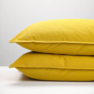 Mustard Cotton Canvas Pillowcases