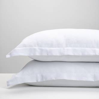 White Linen pillowcases
