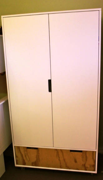 Urban Trendy Wardrobe With Drawer & Internal Shelves