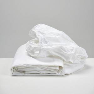 White Cotton Fitted Sheet