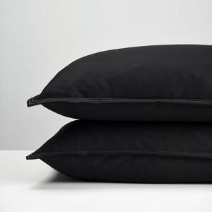 Black Cotton Pillowcases