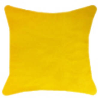 Velvet with natural linen back | Yellow