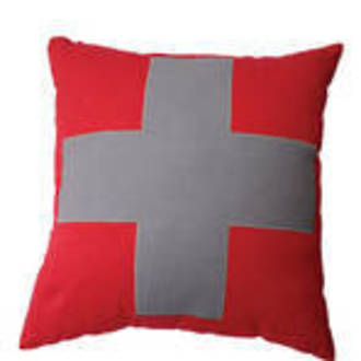 Urban Cross Cushion Red
