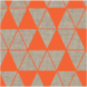 Natural | Triangle printed pillowcases - orange