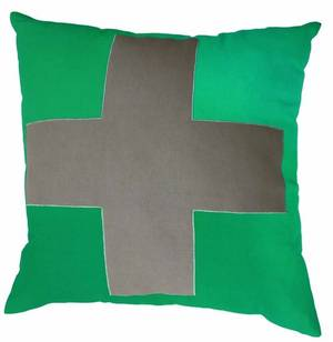 Urban Cross Cushion Emerald Green