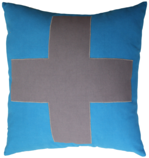 Urban Cross Cushion Blue