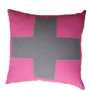 Urban Cross Cushion Pink
