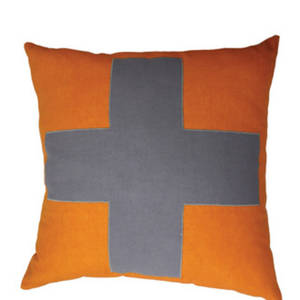 Urban Cross Cushion Orange