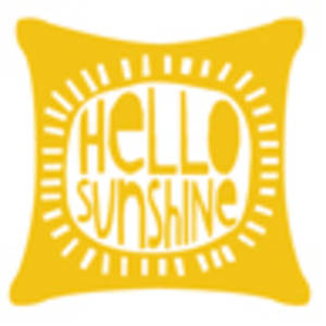Raindrops | Hello Sunshine Cushion