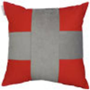 Red silver cross cushion